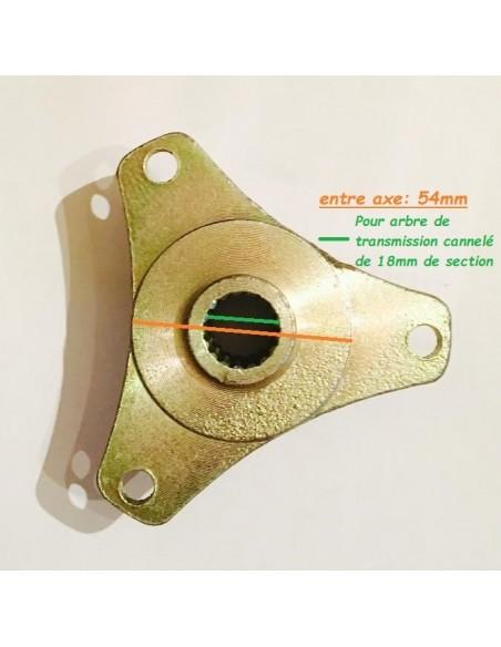 Moyeu de roue arrière Quad - 3 Trous (Modèle 1)