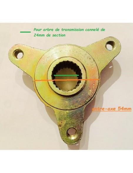 Moyeu de roue arrière Quad - 3 Trous (Modèle 2)