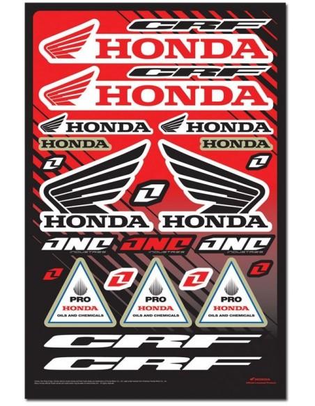 Planche de Stickers Honda CRF