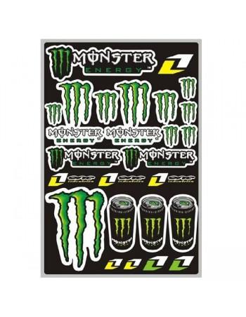 Planche de Stickers Monster Energy